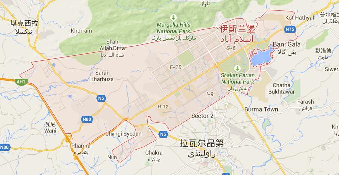 巴基斯坦|巴基斯坦首都|巴基斯坦热门城市地图