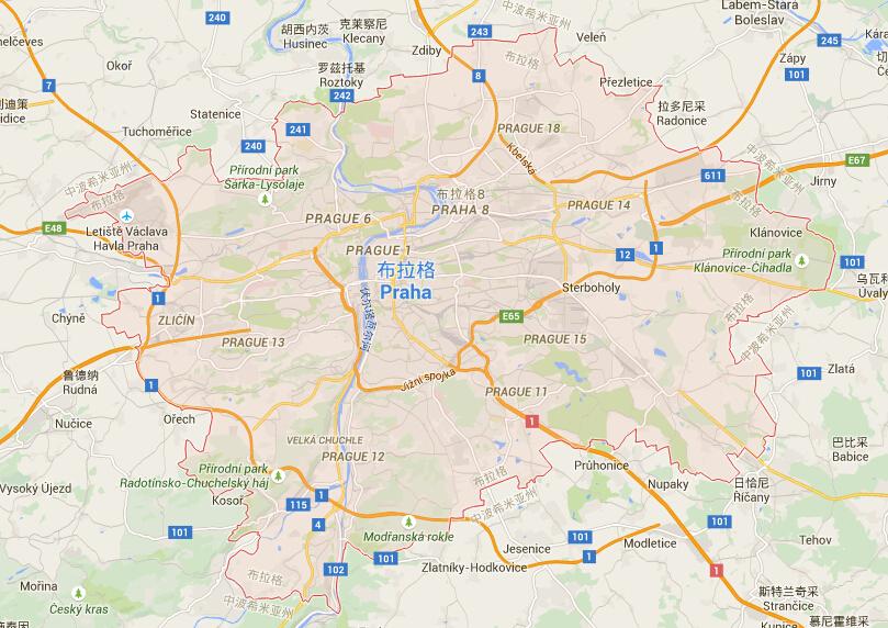 捷克地图|捷克首都地图|捷克热门城市地图