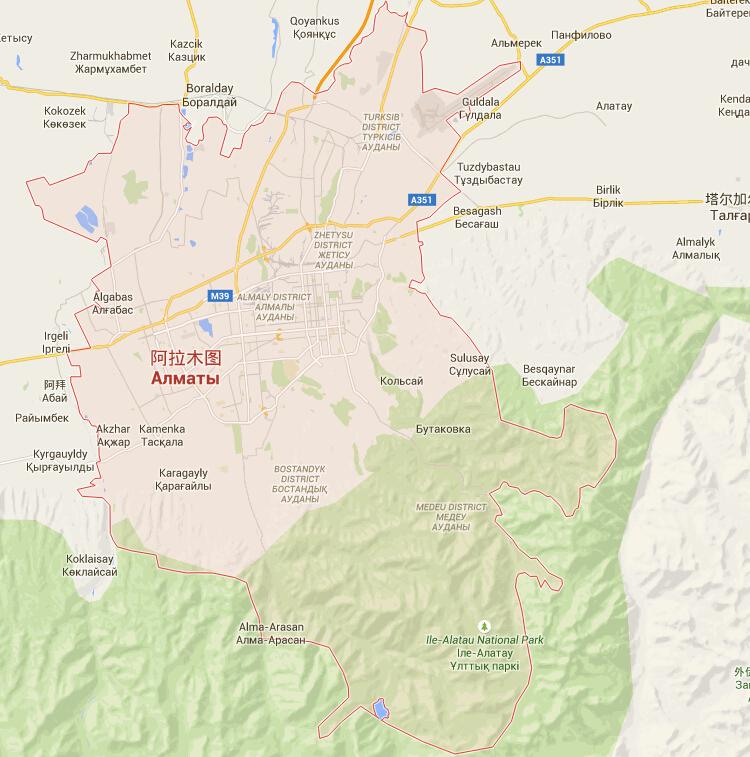 哈萨克斯坦签地图
