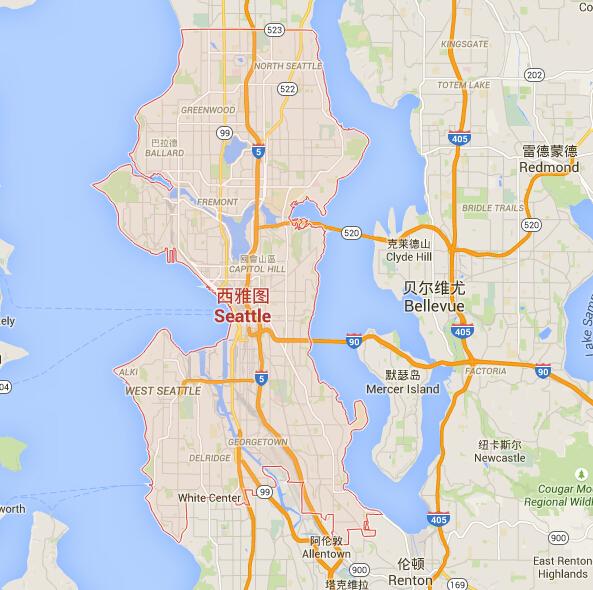 西雅图地图_西雅图地图中文版