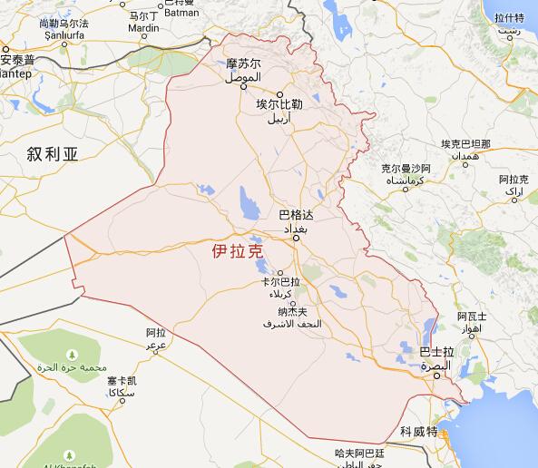 伊拉克地图|伊拉克首都地图|伊拉克热门城市地图